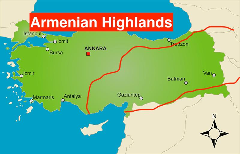 Map Of Asia Minor.Where Are The Armenian Highlands Map Of Asia Minor